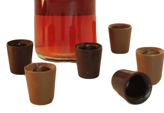 Shot Glasses with Wine Bottle