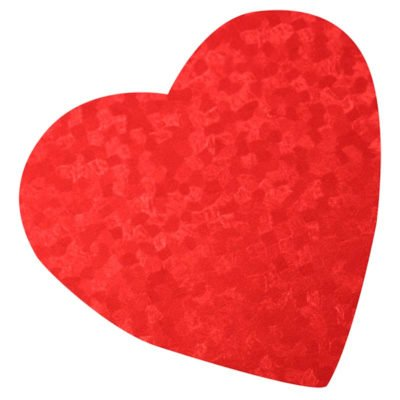 Embossed Foil Heart, Assorted