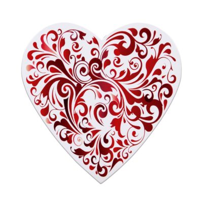 Red Swirl Heart, 14 Piece Box, Assorted Chocolates