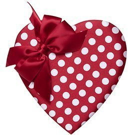 Polka Dot Heart, Assorted Chocolates