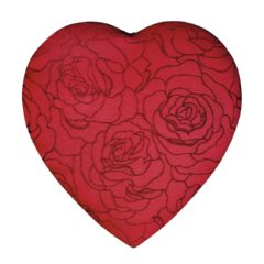 Embroidered Rose Heart, Assorted Chocolates