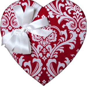 Red Damask Heart, 29 Piece Box, Assorted Chocolates