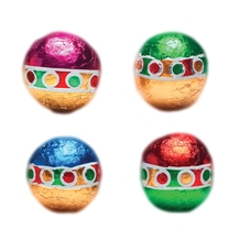 Foiled Christmas Balls, Milk Chocolate