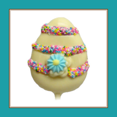 Decorated Egg Pop, White Chocolate