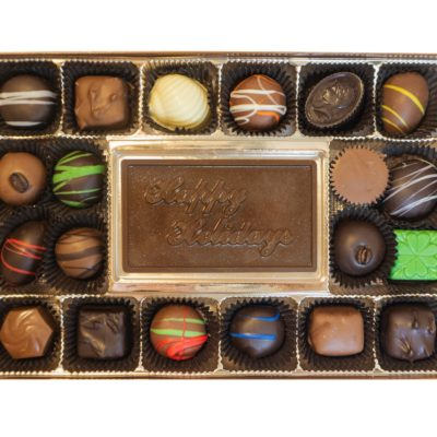 Assorted Chocolates with Happy Holidays Bar
