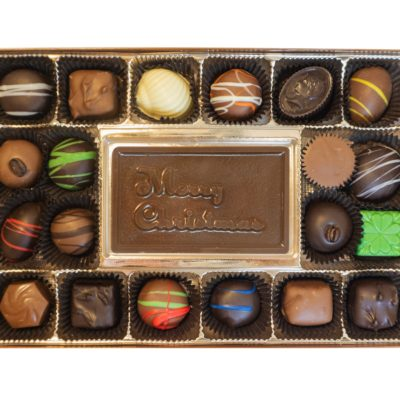 Assorted Chocolates with Merry Christmas Bar
