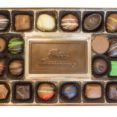 Assorted Chocolates with Happy Anniversary Bar