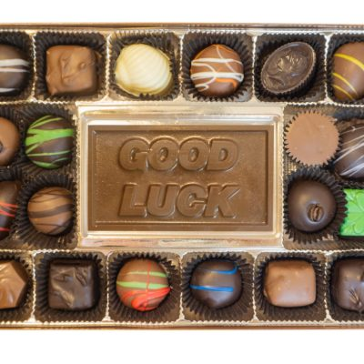 Assorted Chocolates with Good Luck Bar