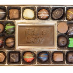 Assorted Chocolates with It's a Boy Bar