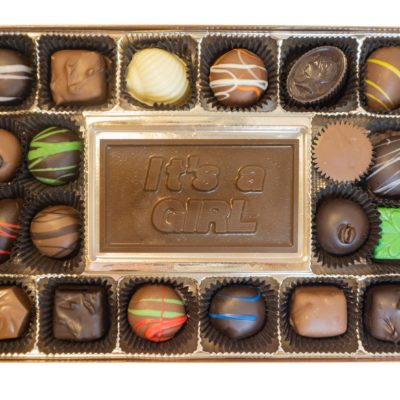 Assorted Chocolates with It's a Girl Bar