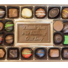 Assorted Chocolates with Thank You for Sharing Our Day Bar