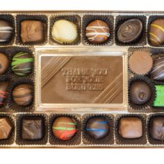 Assorted Chocolates with Thank You for Your Business Bar
